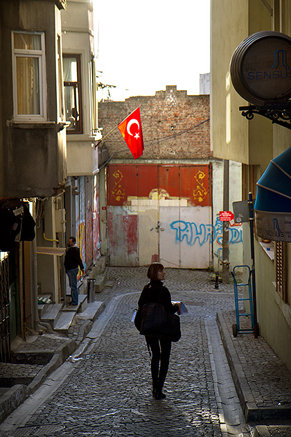 Looking-For-An-Address-In-Istanbul-Stock-Photo